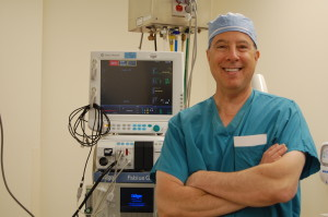 Dr. E in the OR.