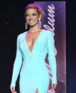 BEFORE: In my evening gown at the Miss New Jersey 2013 competition.